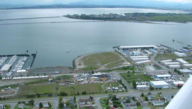 Aerial photo of marina