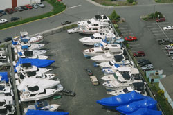 Aerial photo of our boat yard